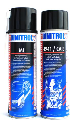 Антикор Dinitrol Car, антикор Динитрол ML, обработка арок, подкрылки колесных арок